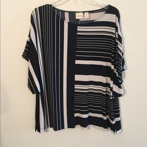 Chico's Striped Jersey Blouse / Tunic